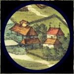 "Detail from the panorama of Kraków in ""Civitates Orbis Terrarum"" (1617)"