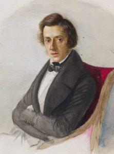 Fryderyk Chopin as painted by his future fiancée, Maria Wodzińska, in 1836