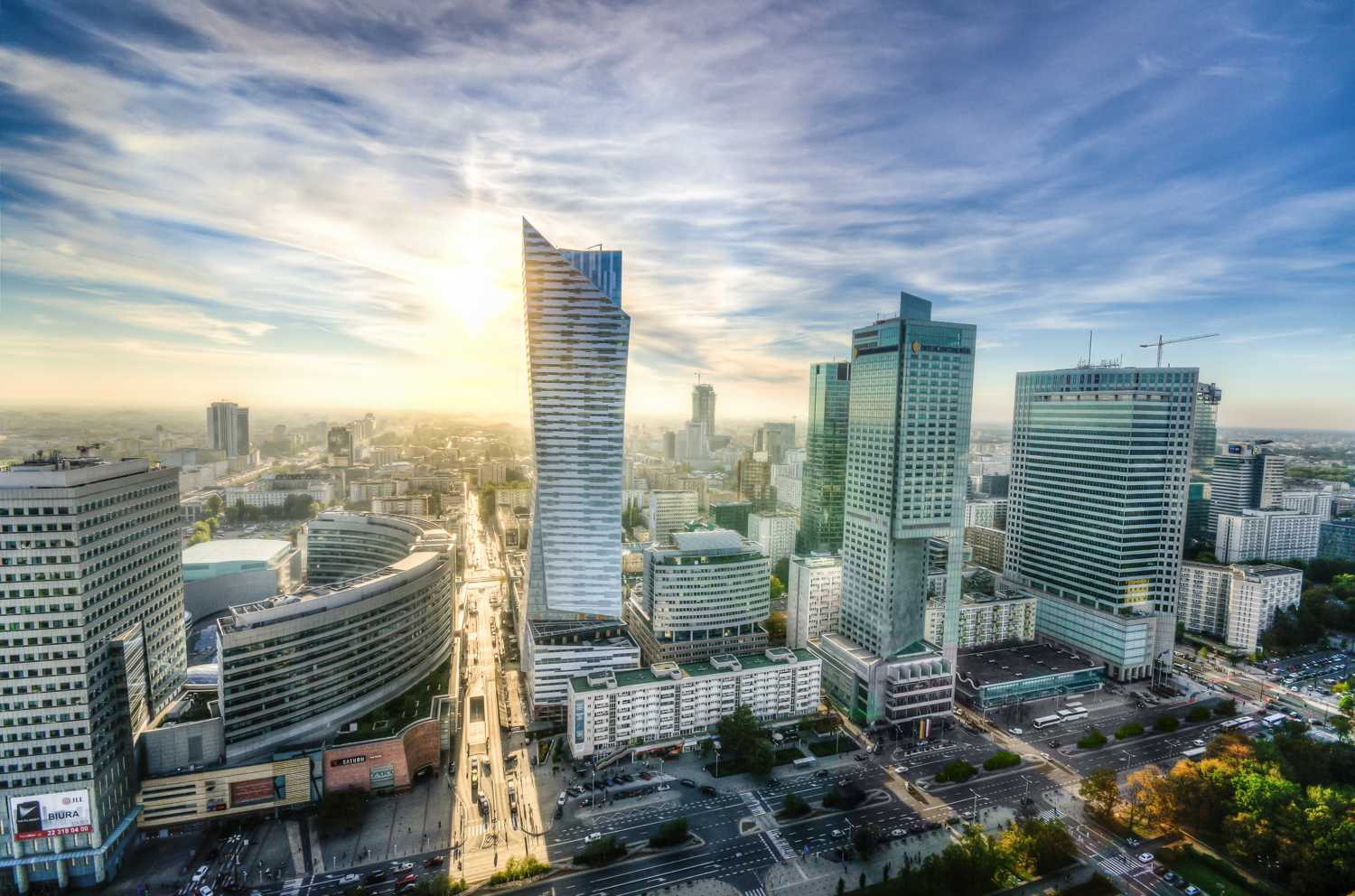 The Warsaw city center • photo by Peter Heeling (CC0)
