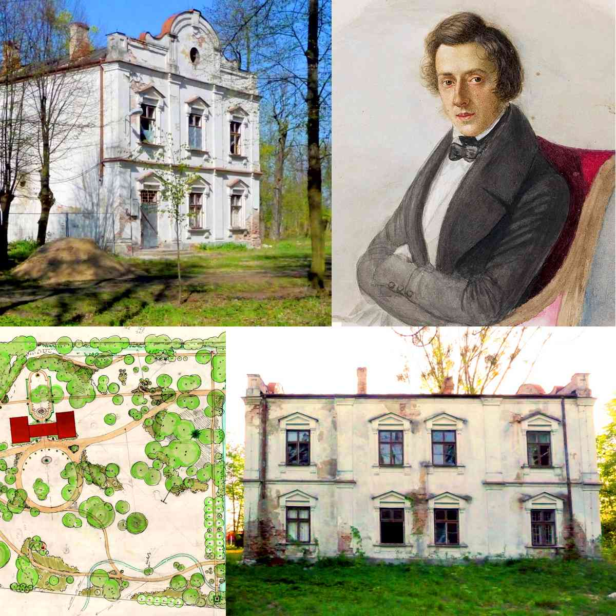 Łazy Palace collage